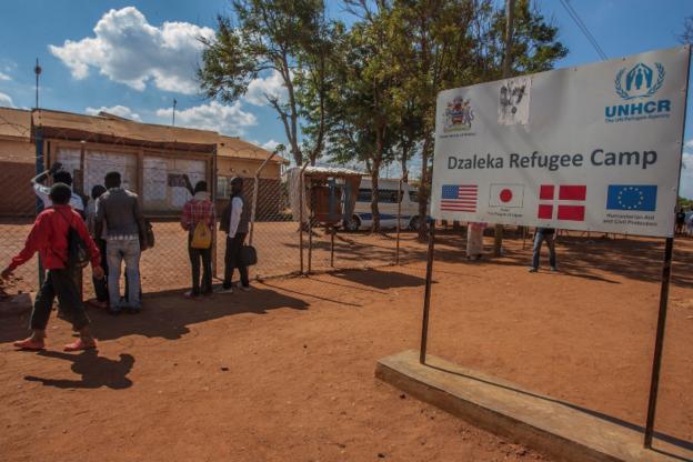 UNHCR office at Dzaleka Refugee Camp