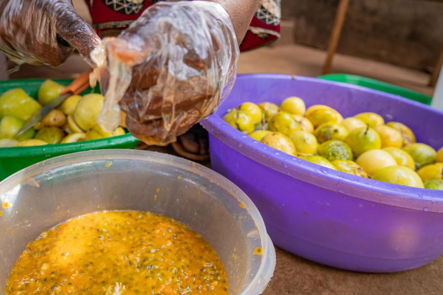 Fresh fruits are a rich source of the vitamins and minerals pregnant women need. Photo: WFP/Francis Thawani