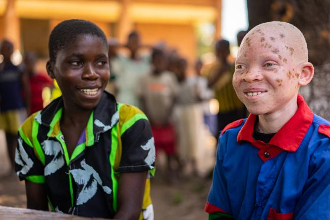 Chinsisi Jafali, a 14-year-old with albinism in Malawi
